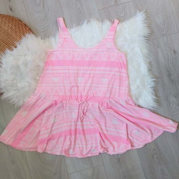 American Apparel Hot Pink pattern dress
